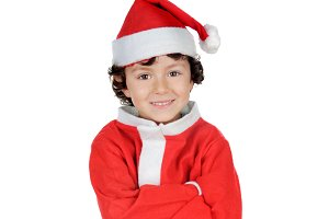 Child with Christmas clothes