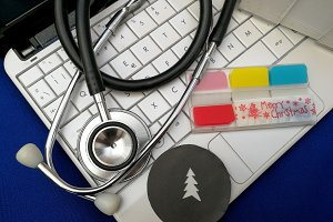 Medical Christmas card