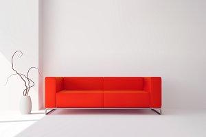 Realistic living room interior