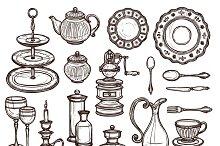 Vintage dishes set