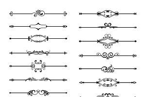Thin line divider set