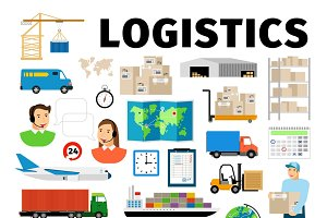 Logistics vector elements