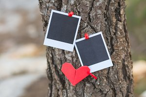 Instant photos with hearts
