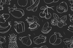 Vegetables and fruits pattern