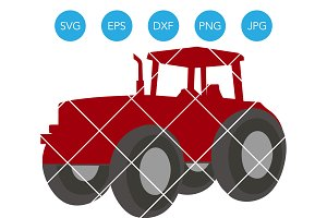 Farm Tractor SVG File for Cricut