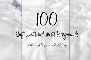 100 differents white bed sheets