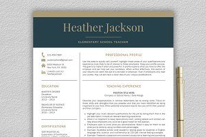 Resume Template / Teacher CV