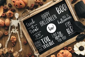 50% off Halloween Quote Overlays