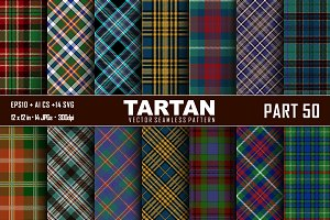 Seamless  Tartan Pattern Part - 50