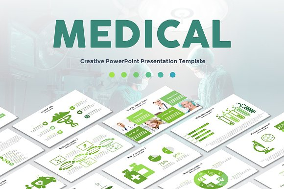 Medical powerpoint template presentation templates creative market medical powerpoint template toneelgroepblik Images
