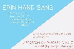 Erin Hand Sans Font Family