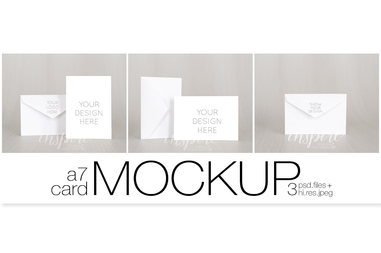 A7 Card/Invitation Nordic Mockup ~ Product Mockups ~ Creative Market