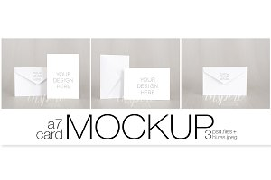 A7 Card/Invitation Nordic Mockup