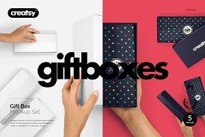 Gift Box Mockup Set