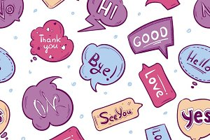Pattern with speech bubbles