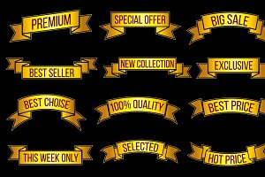 Exclusive offer vector banners set