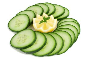 Lemon and cucumber.