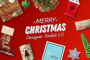 Christmas Assets & Mockup PSD