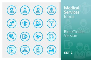 Blue Medical Services Icons - Set 2