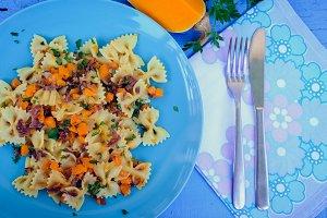 Pasta With Butternut Squash and Prosciutto
