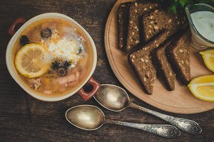 Solyanka - Russian traditional soup