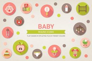 Round baby icons
