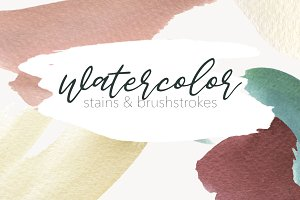 Watercolor - Stains & Brushstrokes