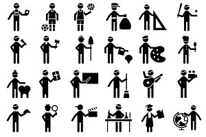 Pictogram Male Profession Icon