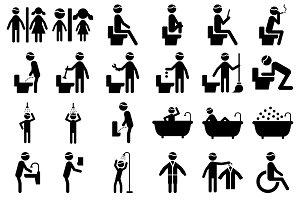 Pictogram Toilet Activity Icon