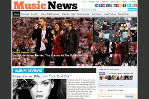 MusicNews Music Magazine Theme