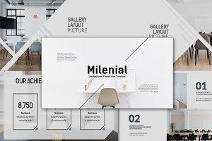 Milenial Minimal Powerpoint Template