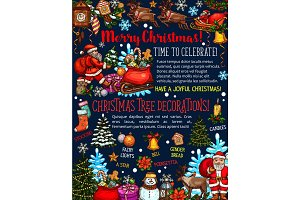 Christmas holidays decoration vector greeting card