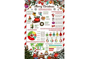 Christmas and New Year holiday gift infographic