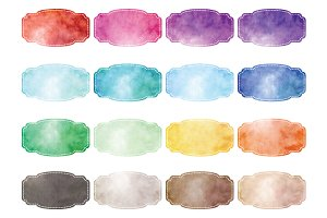 Watercolor Frames Collection