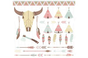Tribal Clip Art Elements