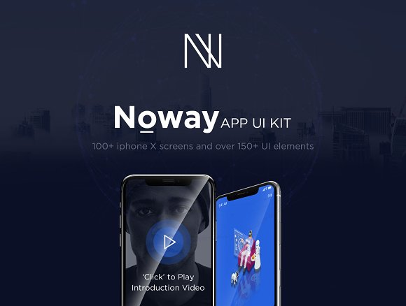 Noway Mobile App UI Kit-Graphicriver中文最全的素材分享平台