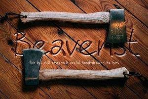 Hand drawn script font. Beaverist