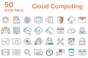 50 Cloud Computing Icons