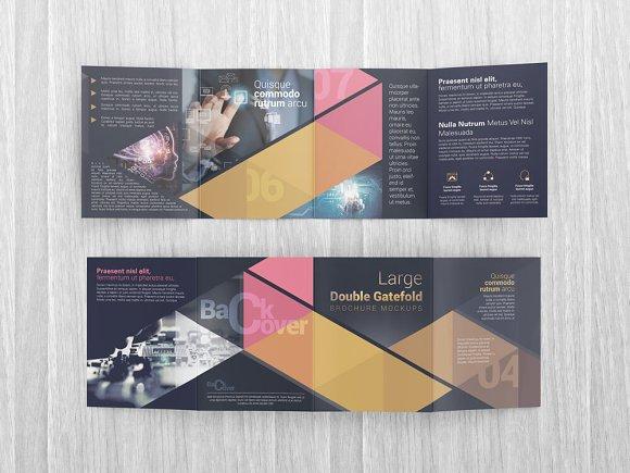 double gatefold brochure mockups product mockups creative market