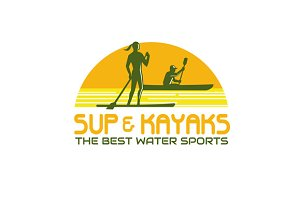 SUP and Kayak Water Sports Retro