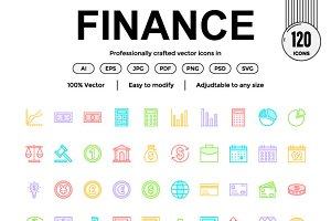 Finance Color Line Icon