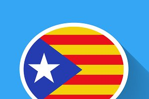 Speech bubble with Catalonia flag