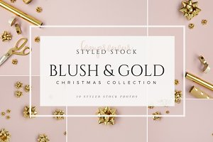 Blush & Gold Christmas Stock Photos