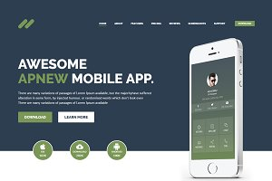 Apnew - Landing page WordPress Theme