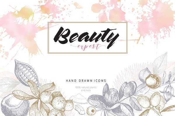 Beauty Expert: sketched beauty oils