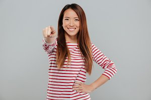 Portrait of a smiling confident asian woman