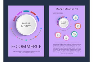 Mobile Business E-commerce Vector Illustration