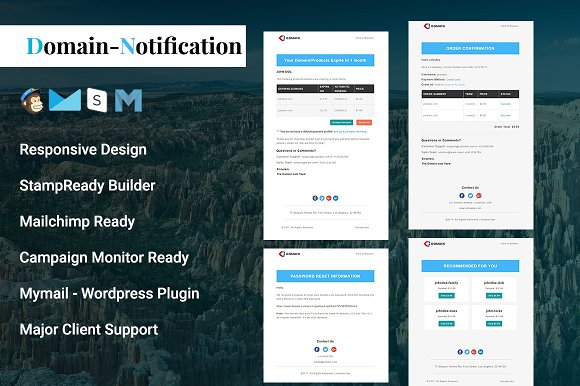 Domain Notification Email Template Email Templates Creative Market