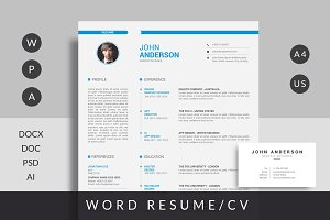 Resume Template with Free Card