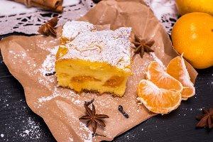 piece of mandarin cake